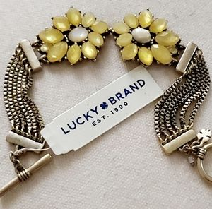 Lucky Brand Daisy Flower Toggle Bracelet NWT
